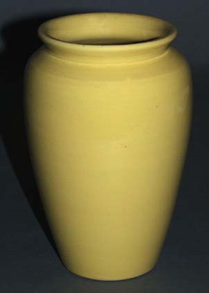 Fred Johnson Bauer Vase Light Yellow Glaze B08430