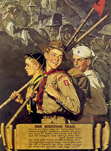 The Scouting Trail Boy Scout Art By Norman Rockwell