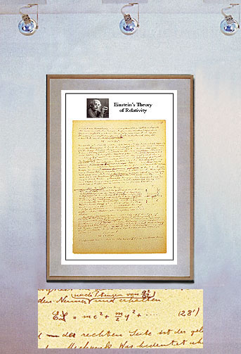 einstein e mc2. The document includes his famous equation, Emc2. This Fine Art Print was carefully printed and limited to 100 prints,